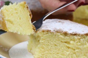 Итальянский пирог «12 ложек». Приготовление воздушного бисквита без весов.