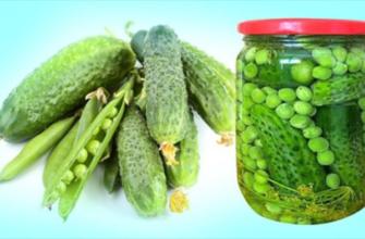 Закатка огурцов с горошком для оливье и для винегрета