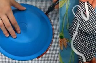 Как с помощью обычной тарелки сшить маску, которая не будет натирать за ушами