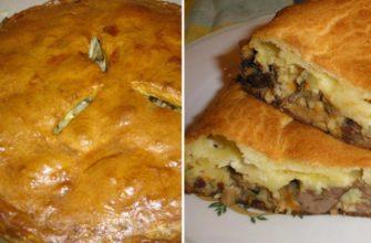 Как приготовить образцовый цкан — лезгинский пирог, полный начинки из мяса и картофеля