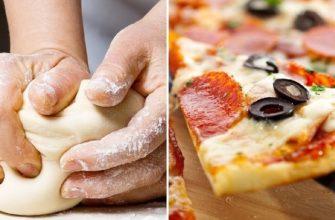 Рецепт бездрожжевого теста для пиццы