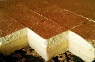 Как приготовить пирожное «Ледяные кубики» на всю семью: пошаговый рецепт