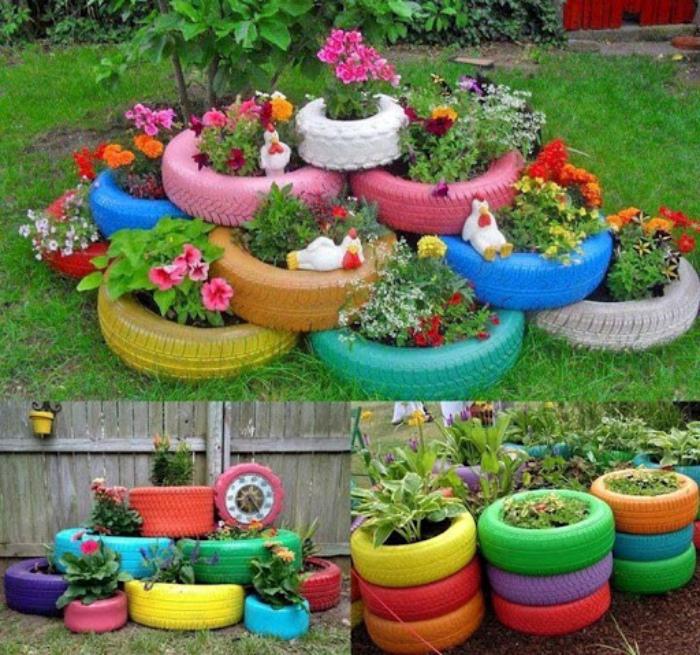 11 декоративных цветников, которые можно смастерить для украшения дачного участка