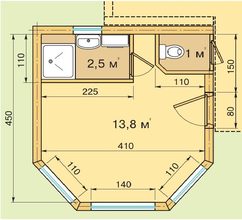 Как пристроить санузел к готовому дачному дому