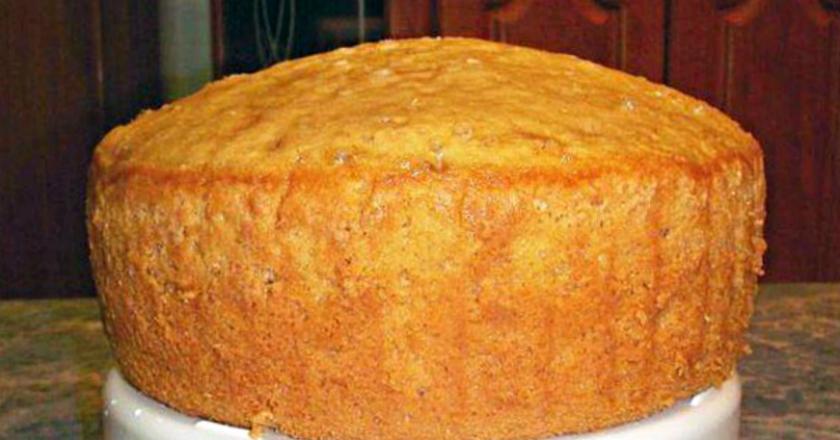 Рецепта бисквита на лимонаде: таким высоким он не был еще никогда!