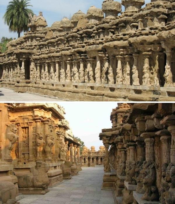 Огромный индуистский храм VIII веке вырезан из одной единственной монолитной скалы