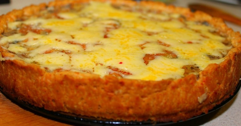 Сытный пирог «Драник» с невероятной хрустящей основой и нежной начинкой