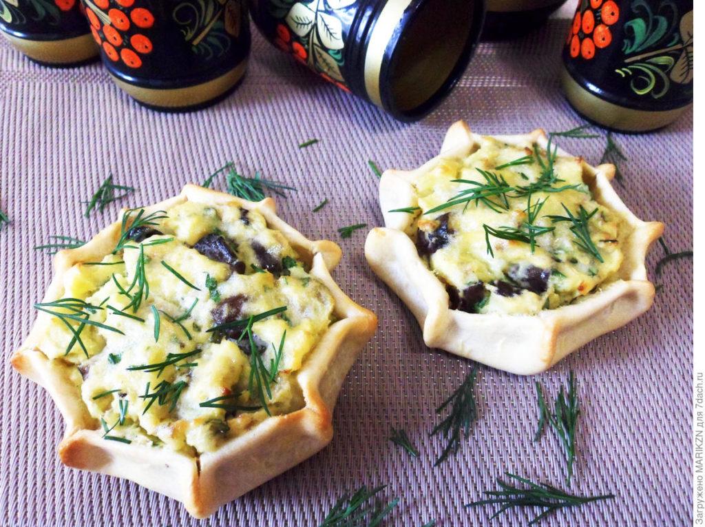 Шанежки с картошкой и грибами