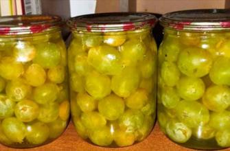 Маринованный виноград на зиму. На вкус как оливки.