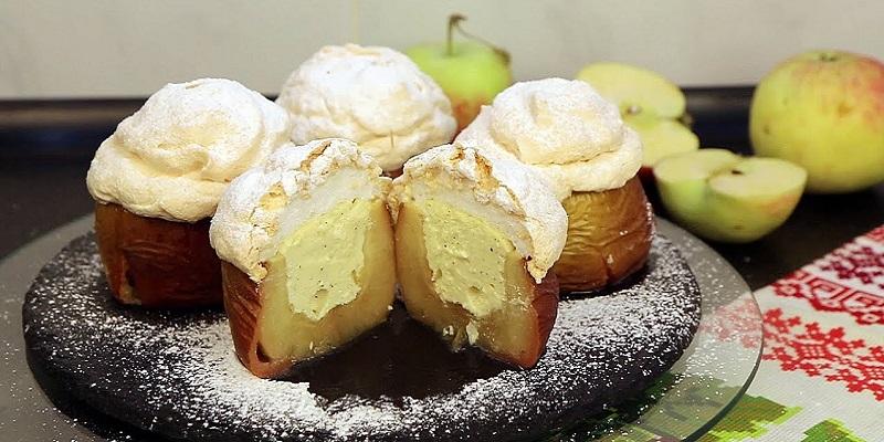 6 самых вкусных рецептов с яблоками в духовке. С овсянкой и сухофруктами — на завтрак, а с безе — на ужин.