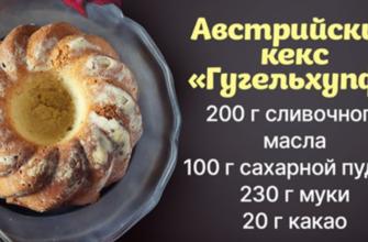 Австрийский кекс на сливочном масле для завтрака императора