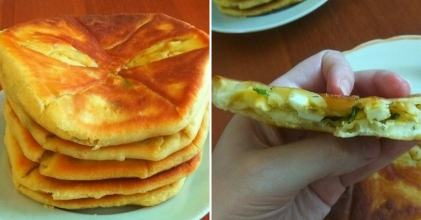 Молдавские плацинды с яйцом и зеленым луком. Раскрываем рецепт приготовления.