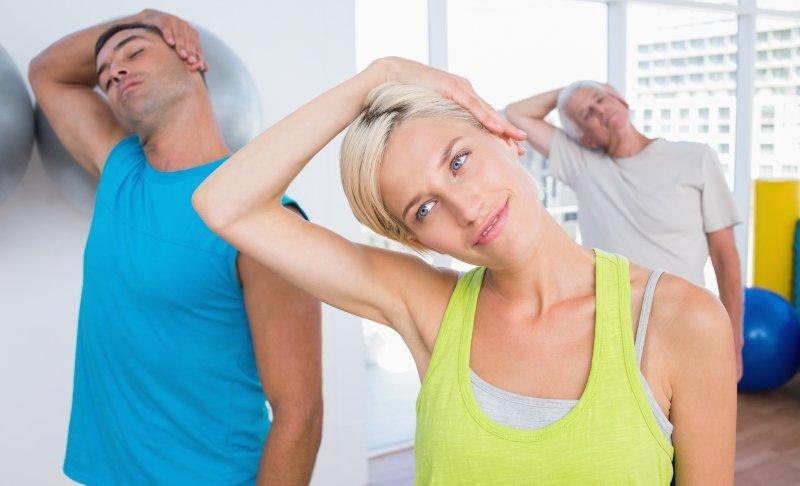 Шесть упражнений для шеи из гимнастического комплекса
