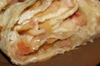 Штрудель с яблоками в лаваше: молниеносный рецепт