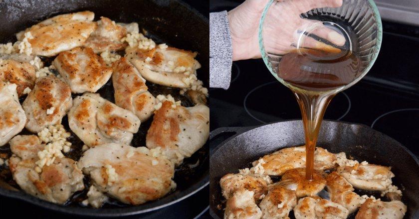 Рецепт быстрой курицы к ужину: жарю прямо в медово-чесночном соусе