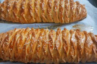 Крученые пироги на кефире с курицей и картошкой