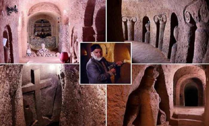 Как за 23 года армянину удалось превратить погреб в пещеру глубиной в 9-этажный дом, используя лишь молоток и зубило