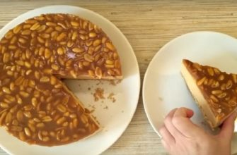 Рецепт карамельного торта без выпечки
