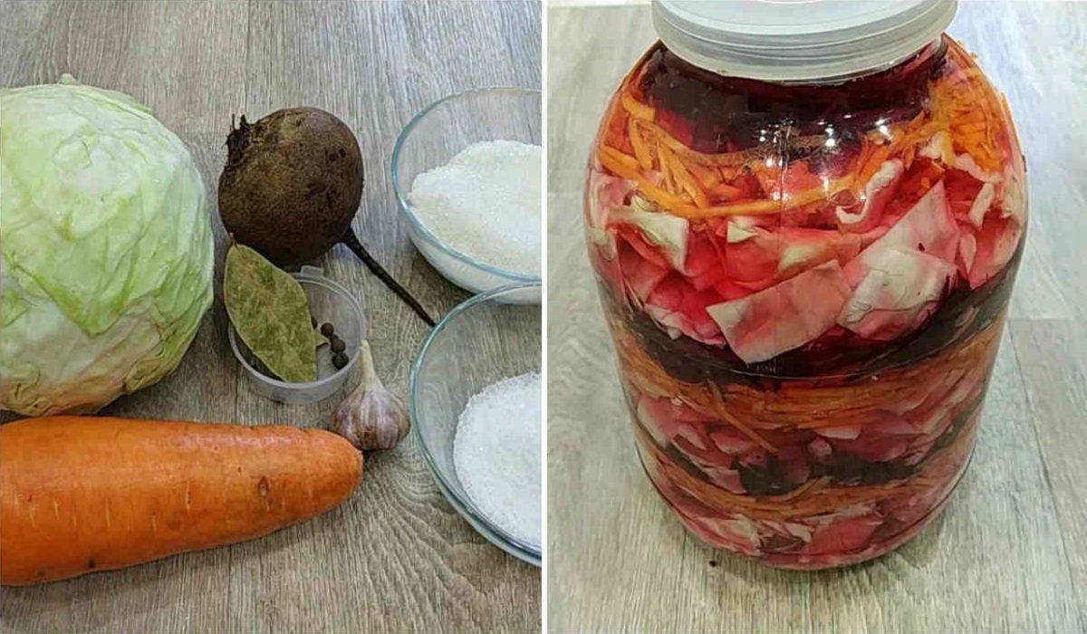 Суточная маринованная капуста в банке: с вечера залил — к обеду готова!