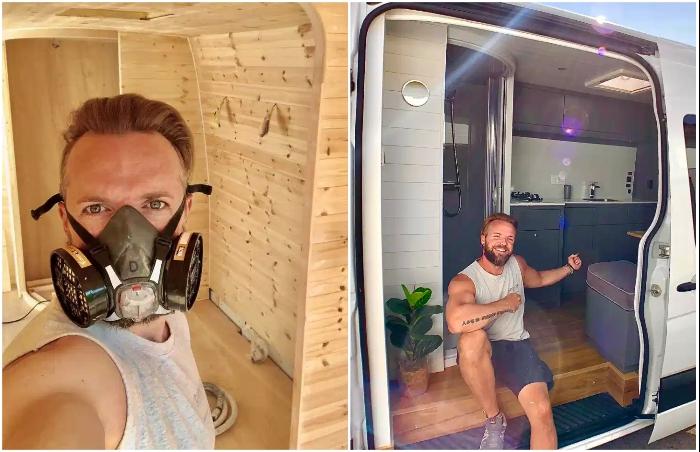 Британский мебельщик превратил грузовой бус в комфортный дом на колесах