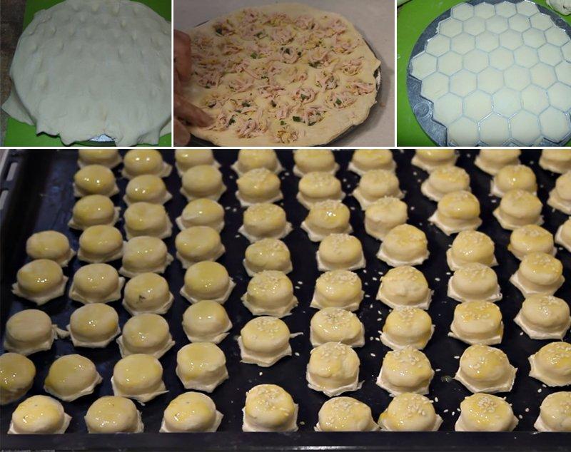 Как испечь сто штук закусочных пирожков-малюток