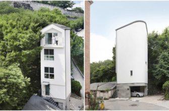 Корейский архитектор умудрился построить 5-этажный дом на площади всего 20 кв. м