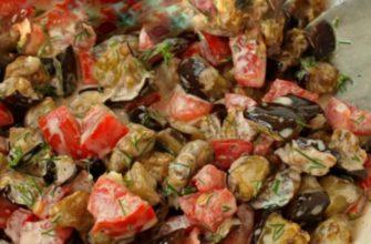 Салат «Дегустатор» с баклажанами — открытие месяца! Простой, без слоев и вкусный.