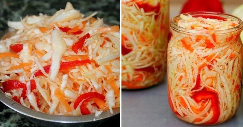 Рецепт маринованной капусты «Огонек»: пикантно, просто и хватит на всех