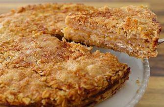 Овсяные хлопья + яблоки = идеальный осенний пирог! Пошаговый рецепт.
