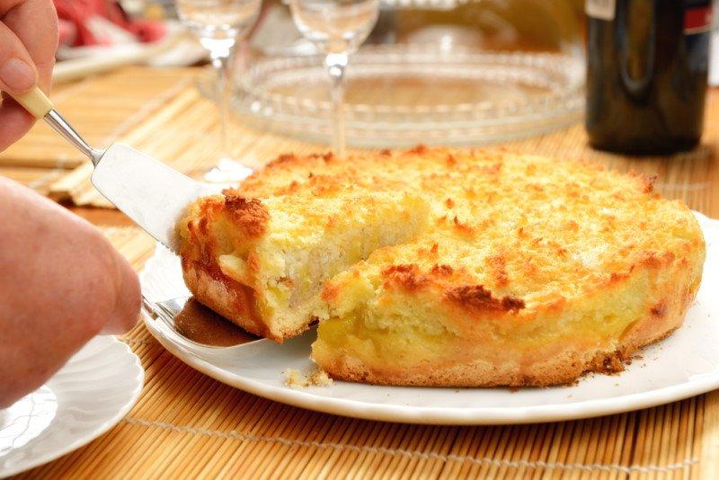 Для какого пирога на сковороде нужно одно яйцо