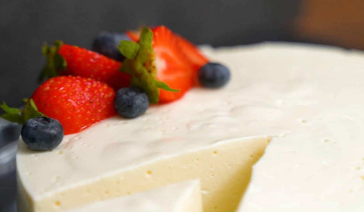 Воздушный десерт без сахара, муки и масла. Каких-то 100 ккал на 100 г !