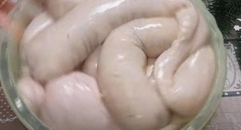 Родной рецепт картофельной колбаски, еще маминой рукой записанный в школьной тетрадке