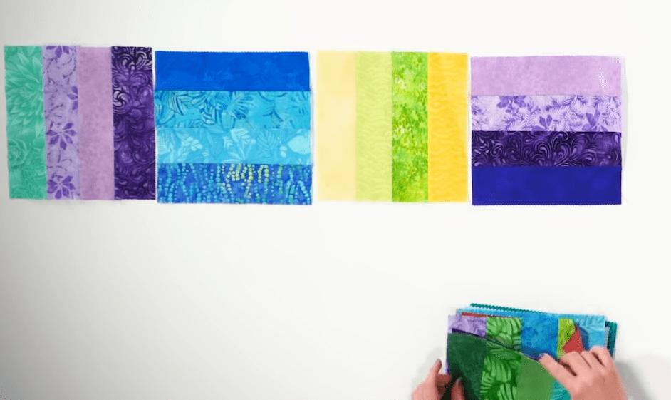 Шикарное стеганое одеяло: так просто работать с лоскутным материалом еще не приходилось
