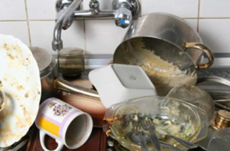 Почему нельзя оставлять на ночь грязную посуду на кухне