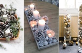 Уютная и праздничная атмосфера в доме с помощью обычных шишек
