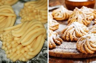 Рецепт осеннего печенья «Хризантема»