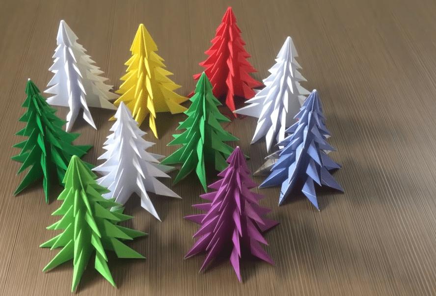 Шикарная 3D елочка: просто согни и получи результат