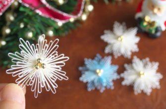 Красивая и объемная бумажная снежинка на расчёске
