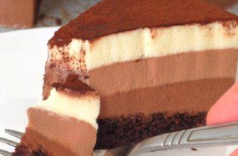 Простой и понятный рецепт, на первый взгляд, сложного торта «Три шоколада»