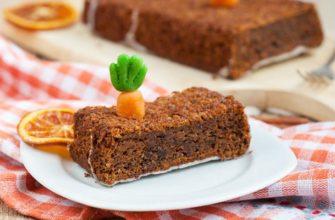 Морковный пирог с миндалем и фундуком