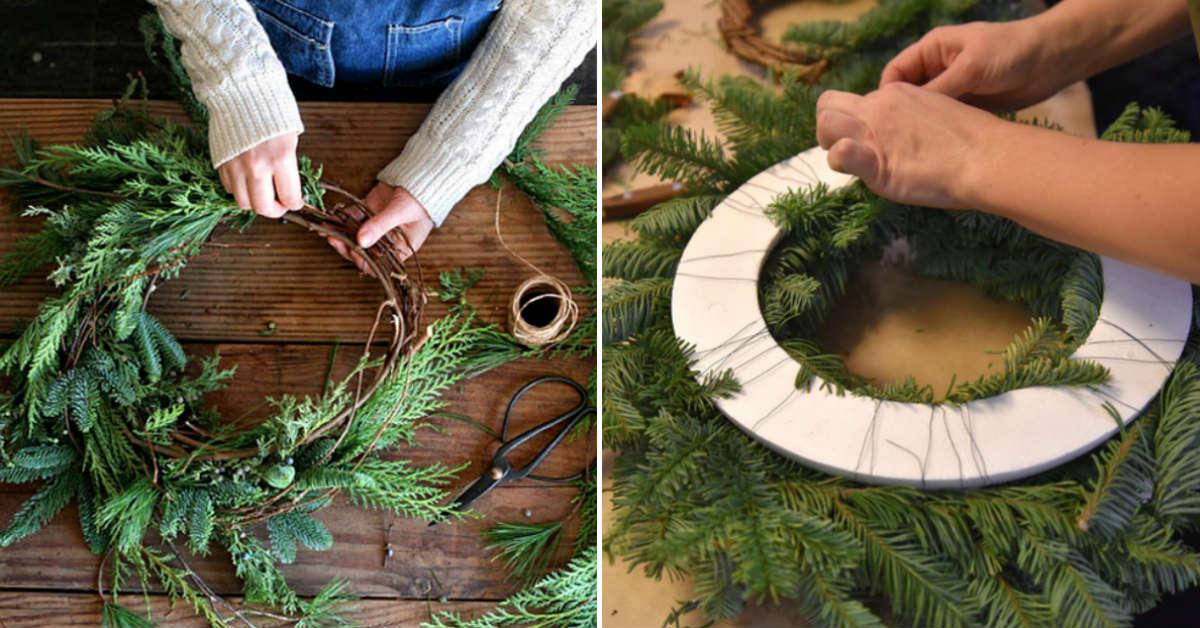15 милейших идей для рождественского венка своими руками