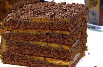 Как приготовить шоколадно-медовый торт «Спартак» со сгущенкой