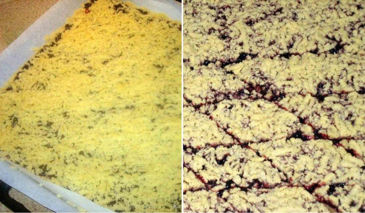 Пирог с вареньем и песочной крошкой по рецепту австрийского кондитера