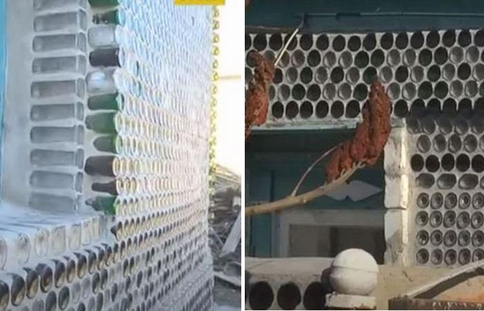 Дачница облицевала дом 5 000 тысячами бутылок и сократила расходы на отопление