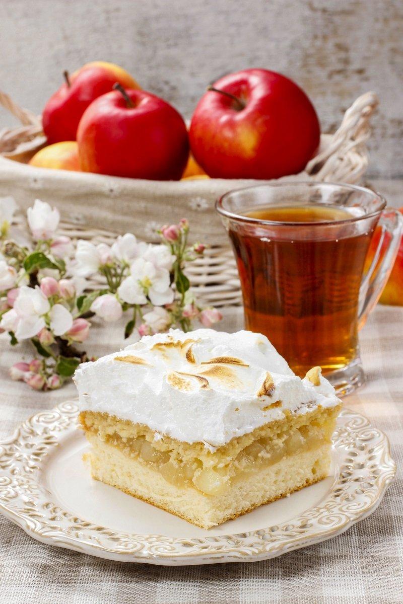 Рецепт яблочного пирога с кремом