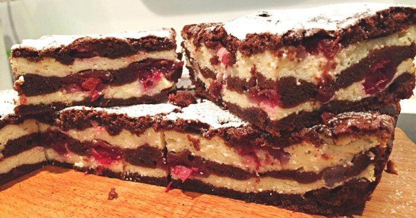 Как приготовить восхитительный брауни с творогом и вишней: нежная структура и насыщенный шоколадный вкус!