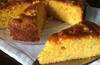 Как приготовить воздушный бисквитный пирог с мандаринами