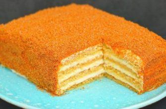 Жемчужина в шкатулке быстрых десертов: медовик за полчаса