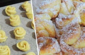 Как испечь творожное печенье «Роза»