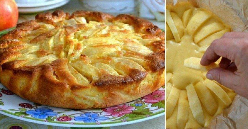 Рецепт деревенского яблочного пирога родом из Италии. Мягкое тесто, хрустящая корочка, начинка с кислинкой — всё, как я люблю!